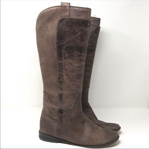 Frye Size 9 Brown Paige Knee High Boots